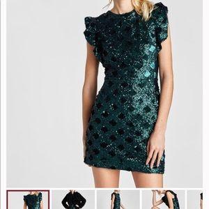 Zara Mini Sequin Dress - Brand New